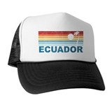 Retro Ecuador Palm Tree Trucker Hat