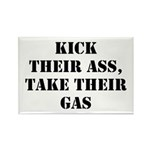 Kick Their Ass, Take Their Ga Rectangle Magnet