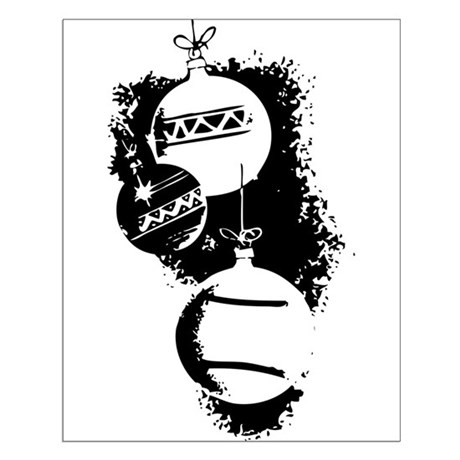 Christmas Ornaments Small Poster