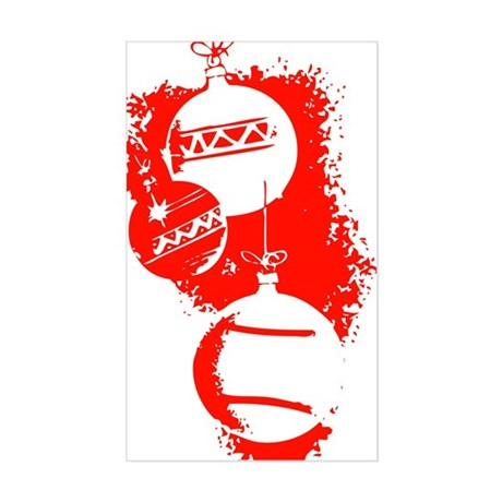 Christmas Ornaments Rectangle Sticker