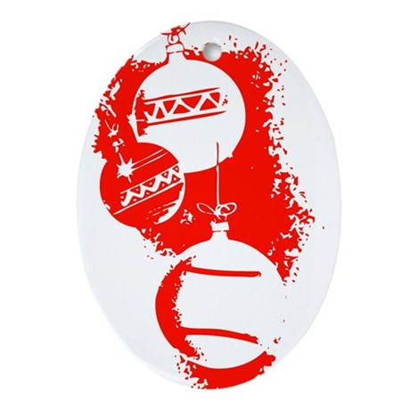 Christmas Ornaments Oval Ornament