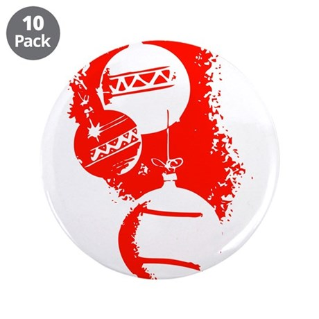 "Christmas Ornaments 3.5"" Button (10 pack)"