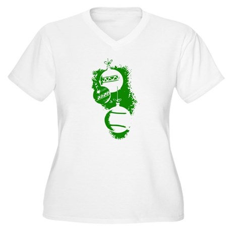 Christmas Ornaments Women's Plus Size V-Neck T-Shi
