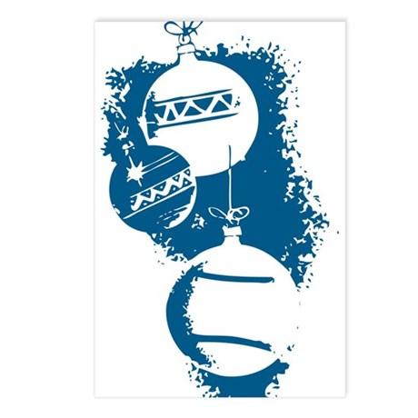 Christmas Ornaments Postcards (Package of 8)