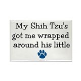 Wrapped Around His Paw (Shih Tzu) Rectangle Magnet