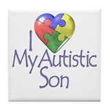 My Autistic Son Tile Coaster
