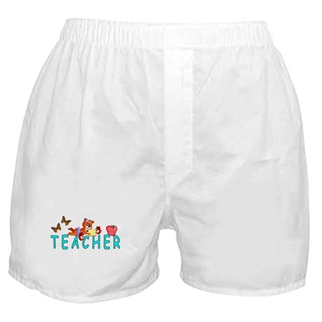 Teacher Reading Boxer Shorts