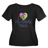 My Autistic Niece Women's Plus Size Scoop Neck Dar