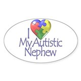 My Autistic Nephew Oval Decal