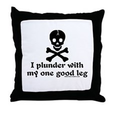 Plunder W/ My One Good Leg Throw Pillow