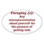 Foreploy Oval Sticker