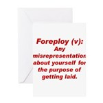 Foreploy Greeting Card