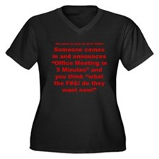 Prayer 2 Women's Plus Size V-Neck Dark T-Shirt
