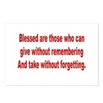 Blessed are those Postcards (Package of 8)