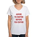 Aspire Inspire Expire Women's V-Neck T-Shirt