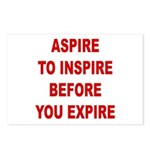 Aspire Inspire Expire Postcards (Package of 8)