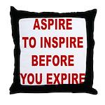 Aspire Inspire Expire Throw Pillow