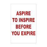 Aspire Inspire Expire Mini Poster Print