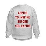 Aspire Inspire Expire Kids Sweatshirt