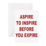 Aspire Inspire Expire Greeting Cards (Pk of 10)