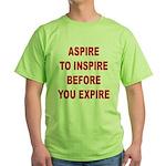 Aspire Inspire Expire Green T-Shirt