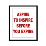 Aspire Inspire Expire Framed Panel Print