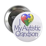"My Autistic Grandson 2.25"" Button (10 pack)"