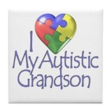 My Autistic Grandson Tile Coaster