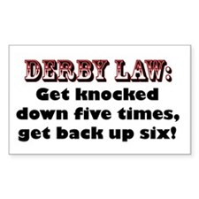 Derby Law! Rectangle Decal