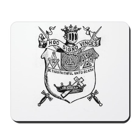 Knights Templar Shield 2 Mousepad