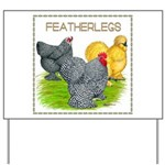 Feather-leg Trio Yard Sign