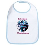 Choose Happiness! Bib