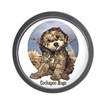 Starlo's Sugar 'n' Spice Cockapoo Hugs Wall Clock