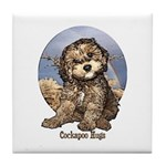 Starlo's Sugar 'n' Spice Cockapoo Hugs Tile Coaste