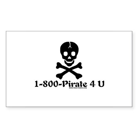 1 800 Pirate 4 U Rectangle Sticker