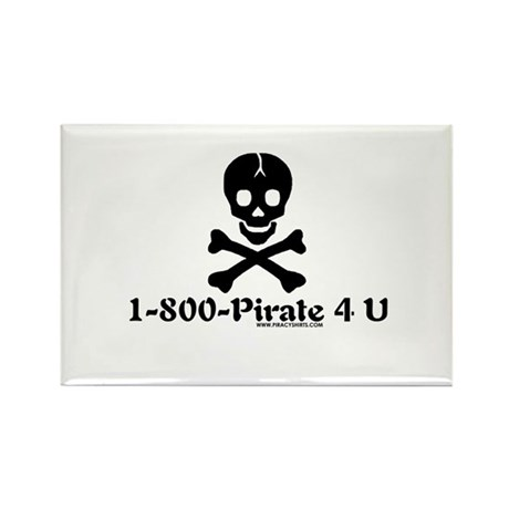 1 800 Pirate 4 U Rectangle Magnet