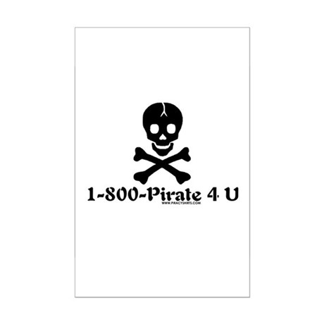 1 800 Pirate 4 U Mini Poster Print