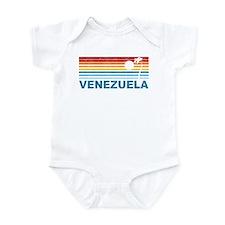 Retro Venezuela Palm Tree Infant Bodysuit