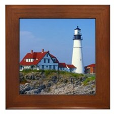 Portland Head Light Framed Tile