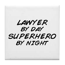 Lawyer Day Superhero Night Tile Coaster