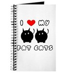I Love My Fat Cats Journal