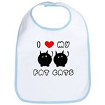 I Love My Fat Cats Bib