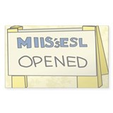 MIIS's ESL Opened Rectangle Decal