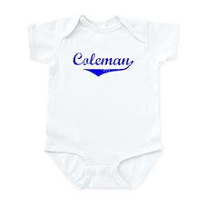 Coleman Vintage (Blue) Infant Bodysuit