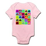 Pop Art Cyclist Infant Bodysuit