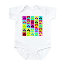 Pop Art Cyclist Infant Bodysuit