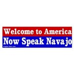 Now Speak Navajo Bumper Sticker