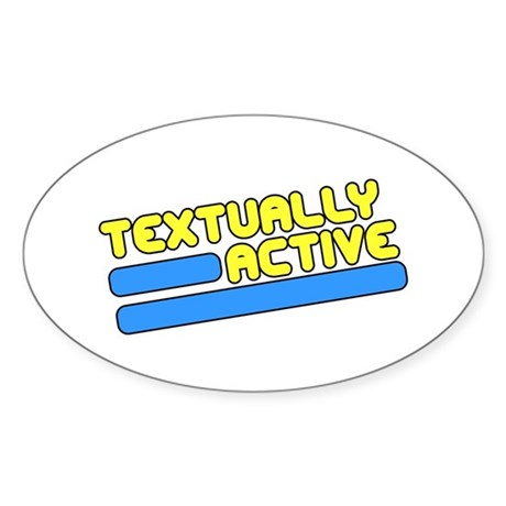 Textually Active Oval Sticker