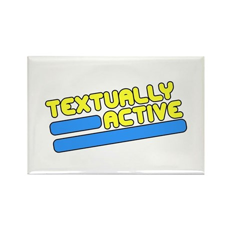 Textually Active Rectangle Magnet
