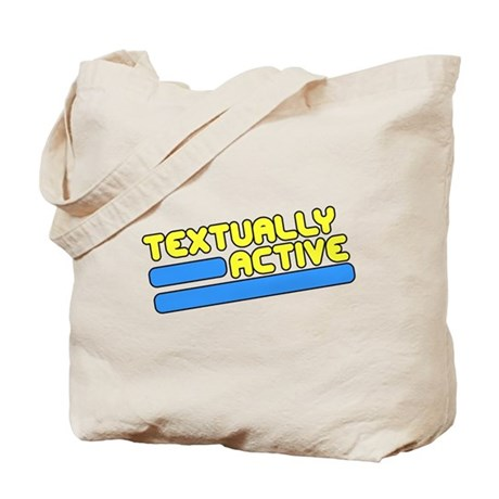 Textually Active Tote Bag